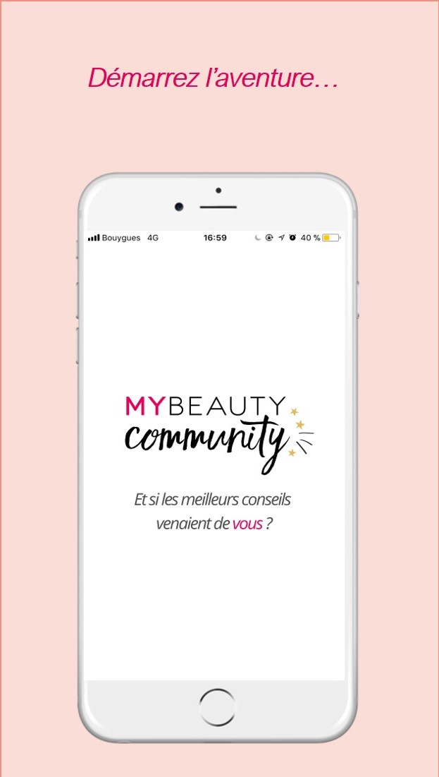 Page d'accueil My Beauty Community